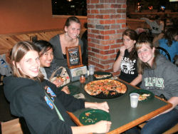 Kappa Kappa Psi at Woodstocks Pizza